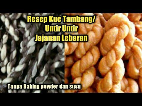 Resep Kue Tambang Untir Untir Tanpa Baking Powder Youtube