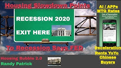 Housing Bubble 2.0 - Housing Slow Down Points to Recession Says FED