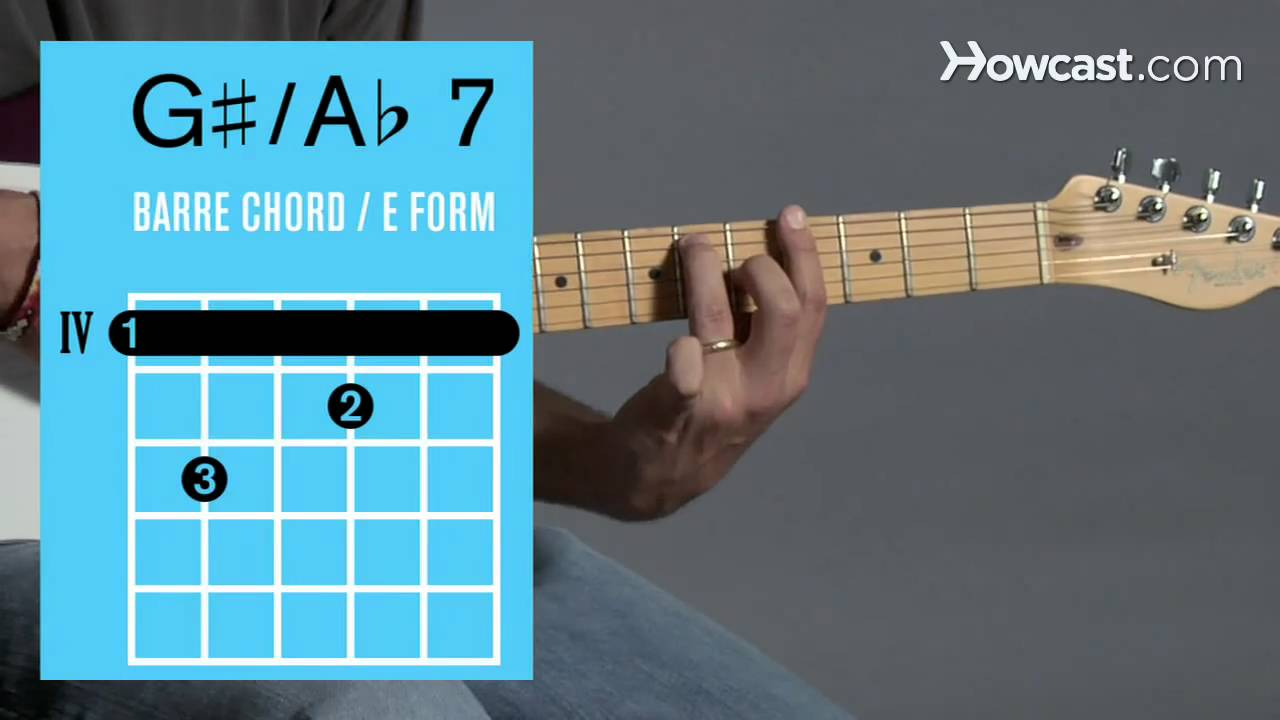 How To Play A 7 G 7 Barre Chord Guitar Lessons Youtube