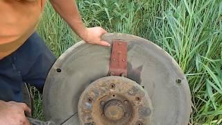 Ремонт роторной косилки (замена держателя)