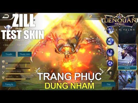 Test trang phục ZILL Dung Nham hầm hố vô cùng luôn (VCL) Liên quân mobile | Arena of Valor Zill Skin