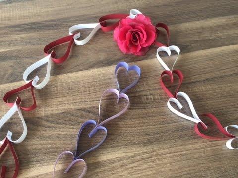 Diy Herz Girlande Basteln Für Muttertag Valentinstag Schnell Und Einfach Liebe