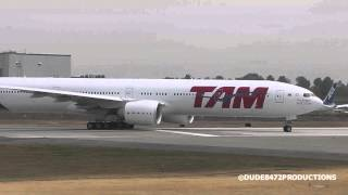 TAM Airlines 777-32WER PT-MUI Delivery Flight from Paine Field ᴴᴰ