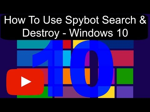 How To Use Spybot Search & Destroy (Version 2.4) - Windows 10 (1080p) (2017)