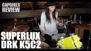 Recensione Superlux DRK K5C2 - Microfoni economici per batteria (CapGirls review)