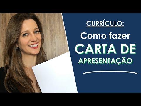 Видео Como fazer uma carta de apresentação para currículo