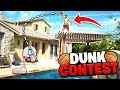 ROOFTOP POOL BASKETBALL DUNK OFF!