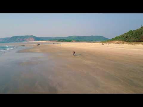 Ride through the Paradise Beach, India - follow me mode - MAVIC PRO