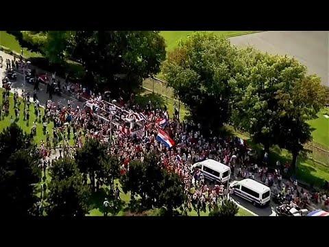 Croatas recebidos como campeões