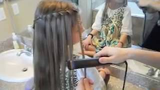 Waterfall French Braid | Crimped Strands | Cute Girls Hairstyles