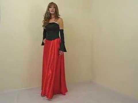Langes elegantes Abendkleid in schwarz rot - YouTube
