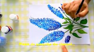 How to do fabric painting with buds | DIY Art | Fabric painting | Tutorial | Ear Buds reuse