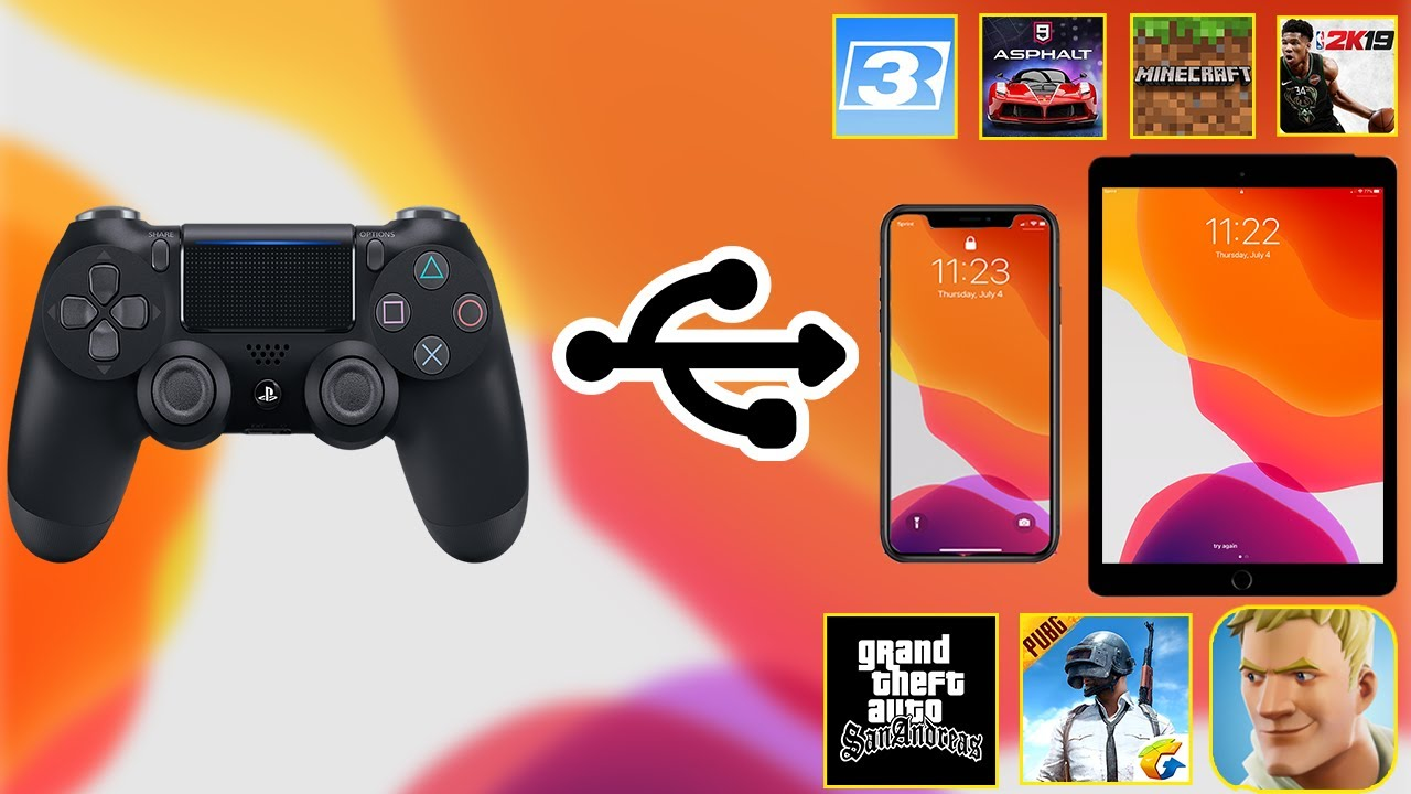 How To Connect Ps4 Controller To Iphone Ipad In Ios 13 Fornite Pubg Gta Nba 2k Minecraft Youtube