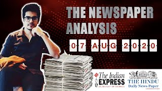 7 August 2020- The Indian Express Analysis by Mayur Mogre