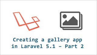 laravel gallery app 2 adding material design and create gallery form
