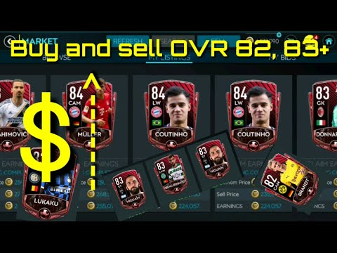 FIFA MOBILE] Earn COIN fast in fifa mobile 20 by buying and selling highly efficient OVR 82 , 83+