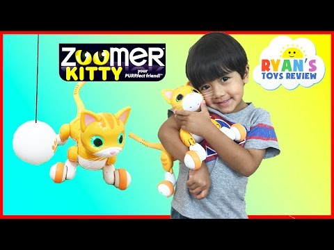 Zoomer Kitty Whiskers The Orange Tabby Unboxing and Play with Ryan ToysReview