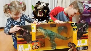 Игрушка Динозавр Рекс на радиоуправлении, распаковка и обзор. Dinosaur T-Rex.