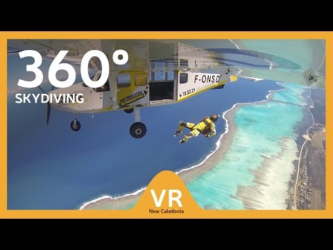 360° video: Skydiving - Discover the many worlds of New Caledonia