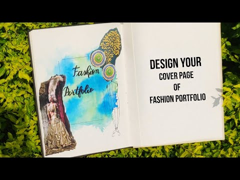 Easy Watercolor Background Technique Design You Cover Page Of Fashion Portfolio Youtube