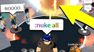 ADMIN COMMANDS IN ROBLOX RAP BATTLES! *NUKE ALL*