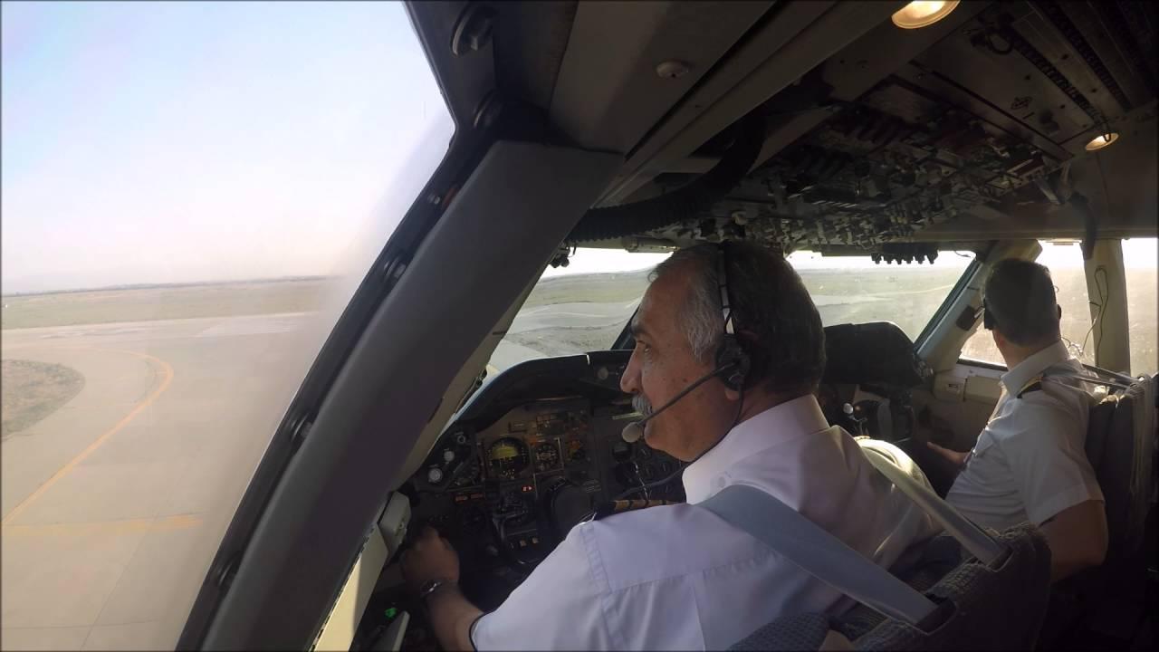 Iran Air Boeing 747-SP full GoPro Cockpit takeoff footage HD