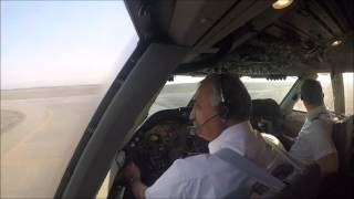 Iran Air Boeing 747-SP full GoPro Cockpit takeoff footage HD