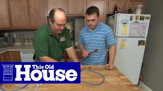 How to Install a Water Filter With A Separate Faucet - This Old House