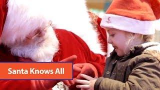 Santa Signs To Child