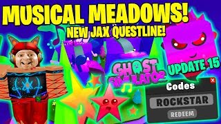 NEW MUSIC BIOME & GEM CHEST ! JAX Questline Quests ! ALL CODES 👻 Roblox Ghost Simulator Update 15