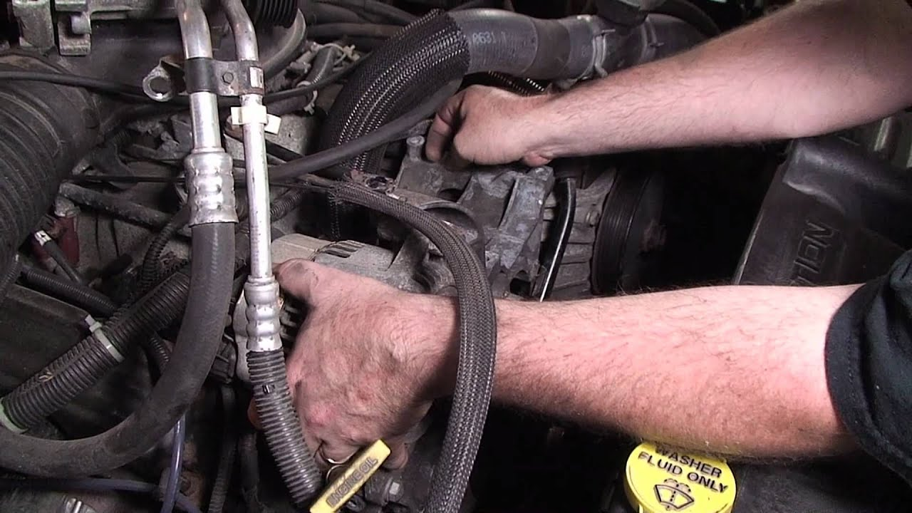 small resolution of dodge dakota coolant leak repair including bypass hose thermostat water pump etc