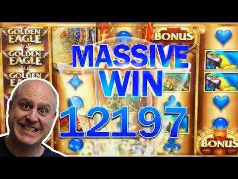 MASSIVE WIN! 😱10 FREE GAMES JACKPOT 🦅Golden Eagle Slots - The Big Jackpot - 동영상