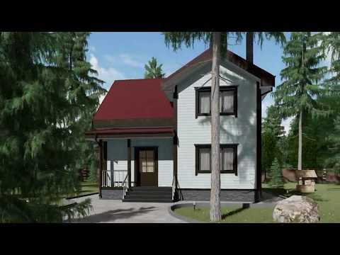 Проект каркасного дома Крона 101м2