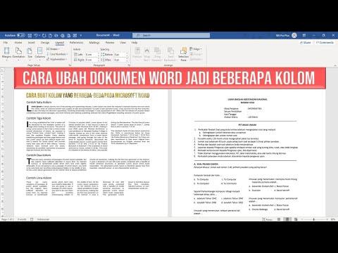 Cara Buat Naskah Kolom Koran pada Dokumen Word