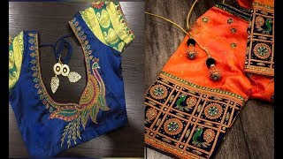 Beautiful Thread Embroidery WorkBlouse Design For Farewell Party  ...
