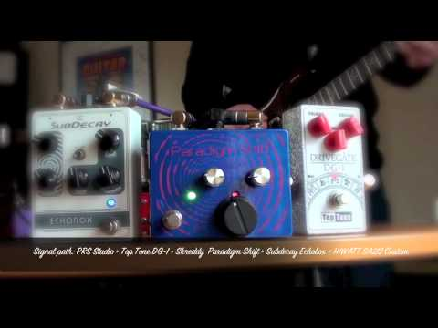 Just for fun: Skreddy Paradigm Shift with Top Tone DG-1 and Subdecay Echobox