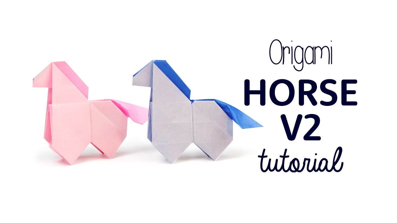 Origami Horse Tutorial Version 2 Paper Kawaii Youtube