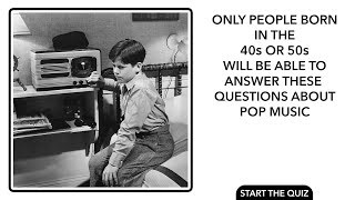 Pop Quiz About Music - Are you old enough to answer these questions correctly? thumbnail