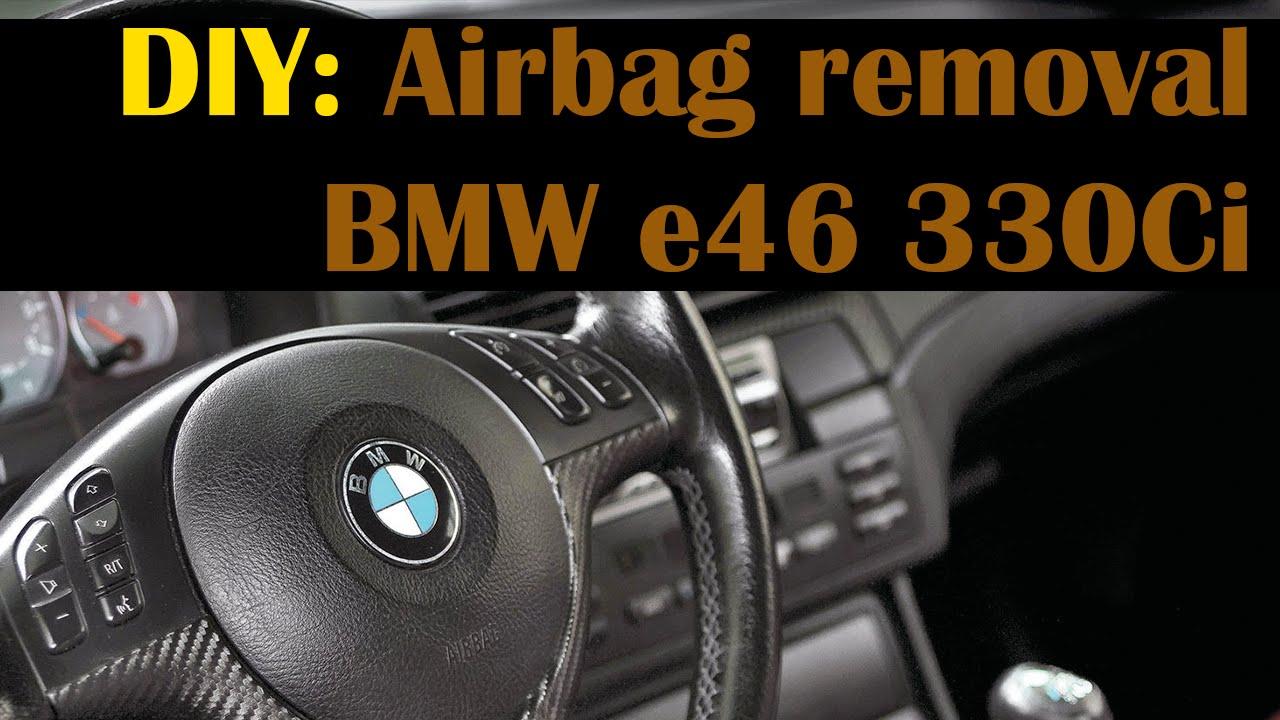 removing round airbag bmw e46 323i 325i 330i m3 m5 540i. Black Bedroom Furniture Sets. Home Design Ideas