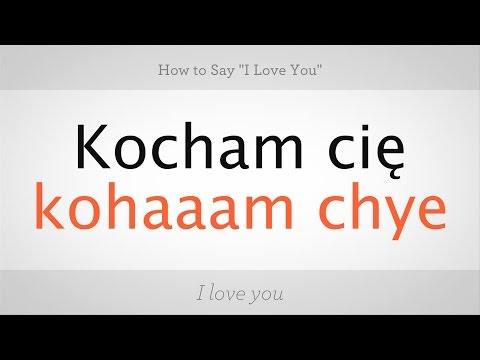 How To Say Love You In Polish