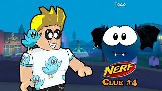 Roblox / Halloween à Meep City! / Nerf Challenge Clue #4 / Gamer Chad Plays