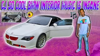 cj so cool bmw interior music is one of a kind amazing u must watch this video