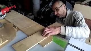 odcinek10 szafka tapicerowana i prace stolarskie połączenia ukryte, lamelki, oklejanie krawędzi