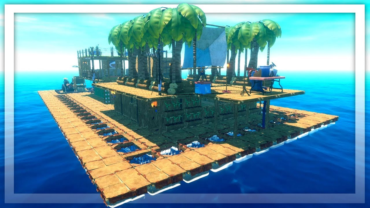 I Created A Shark Proof Battle Ship In Raft The First Chapter Youtube