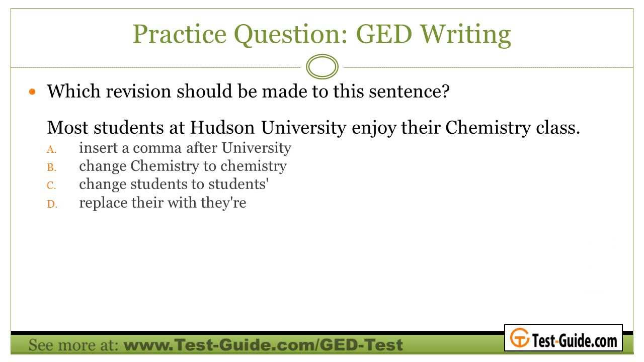 ged test essay questions Within the two combined sections that comprise our ged practice test version of reasoning through language arts, there are a total of 47 multiple-choice questions the actual ged will also feature an essay portion.