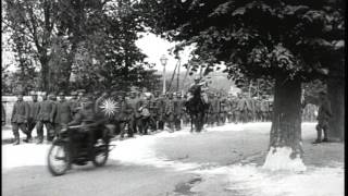 US 9th and 23rd Infantry Regiment guard prisoners and  General James Harbord, Col...HD Stock Footage