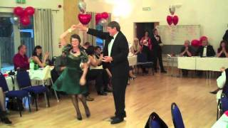 Rose and Mike dance the Gay Gordons