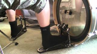 Double Stroke Kick Drumming - Double Pedal (Heel-Toe Technique)
