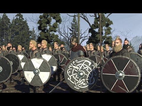 VIKING SIEGE - Total War Britannia Cinematic Battle Machinima |