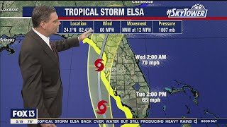 Tropical Storm Elsa forecast: Tuesday morning update